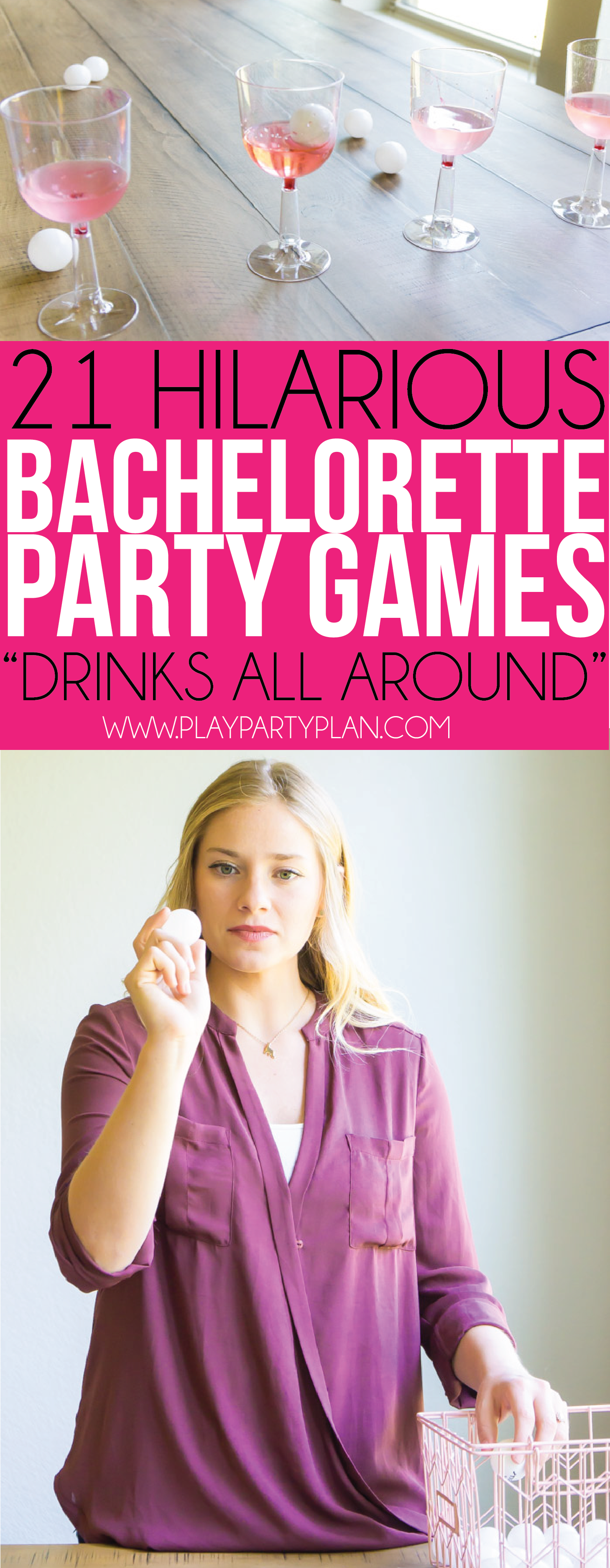See who can get ping pong balls into cups first in these fun bachelorette party games