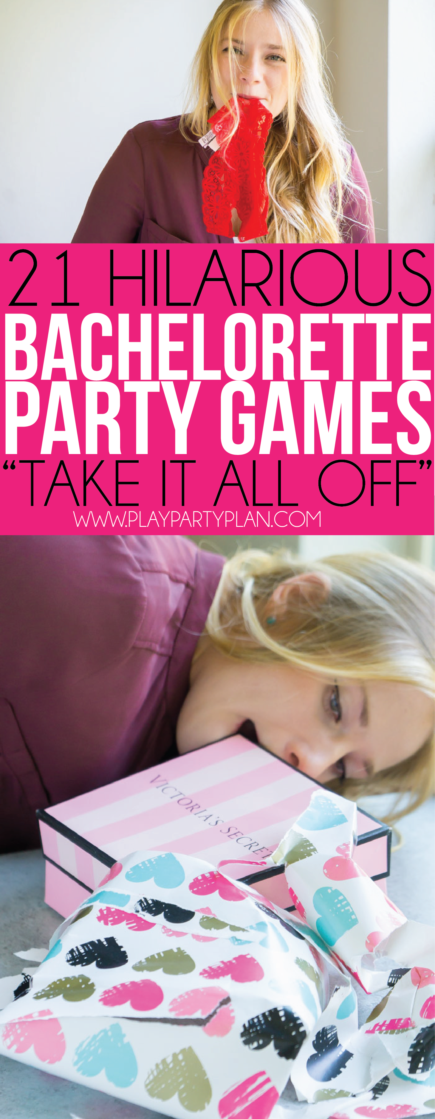Take in all off in these fun bachelorette party games