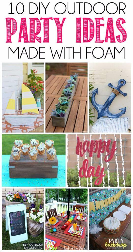 Amazing outdoor party decoration ideas that all started as a simple sheet for foam