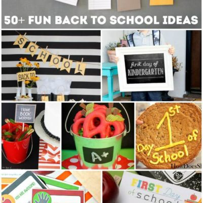 50 Fun Back to School Ideas