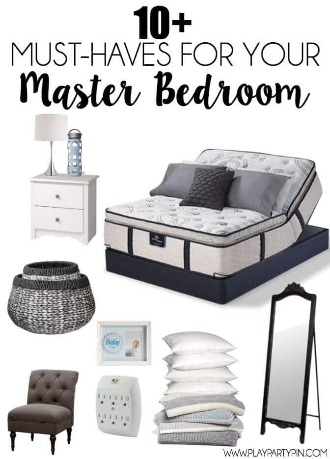 Love this list of must-have items for a relaxing master bedroom, great ideas