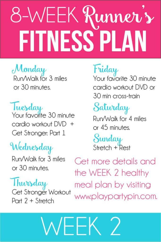 Full week of running workouts in the 8 week fitness jumpstart program!