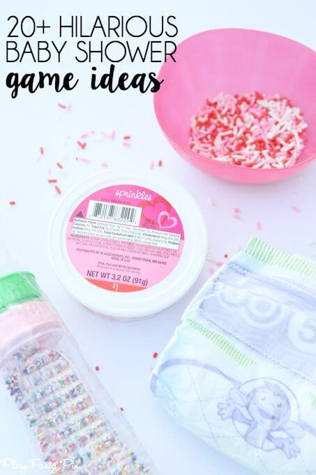 20 hilarious baby shower games that are also perfect for a 2nd time mom baby sprinkle!