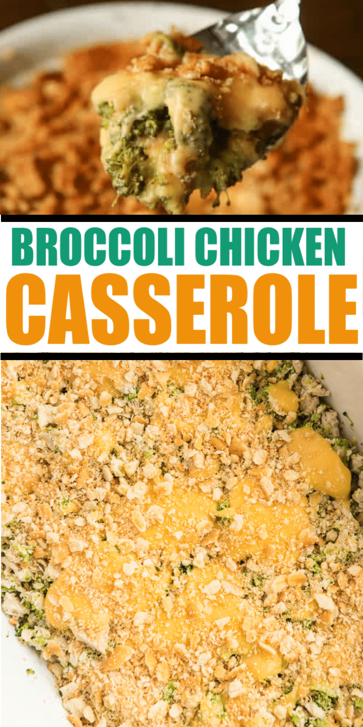 This broccoli cheese chicken casserole with Ritz crackers is one of the easiest weeknight dinner recipes and one of my favorites! It's one part creamy, one part crunch, and absolutely delicious!