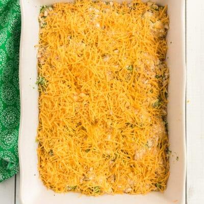 Easy Broccoli Cheese Chicken Casserole Recipe with Ritz Crackers