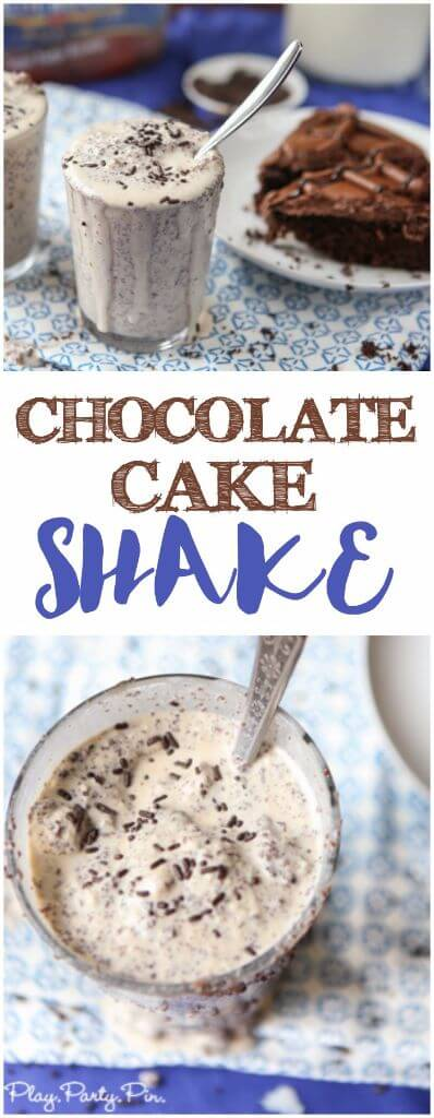 If you love cake and ice cream then this chocolate cake shake recipe is perfect for you! One of the yummiest milkshake recipes I've ever made!