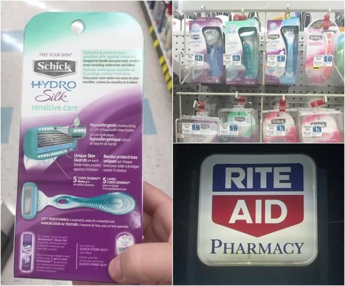 Rite Aid Schick photos