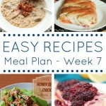 A week's worth of easy dinner recipes and one amazing looking dessert recipe!