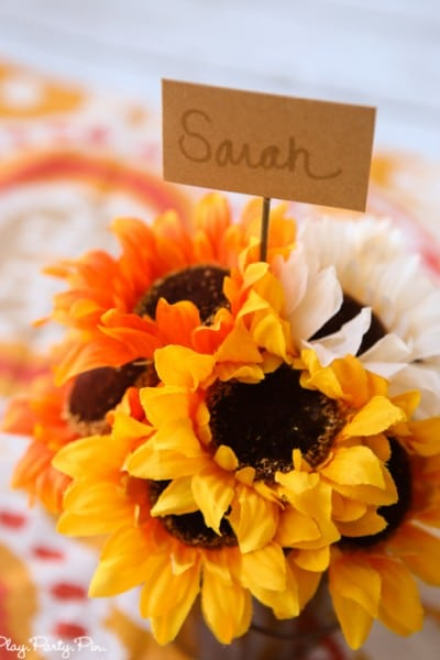 Easy Fall Place Cards