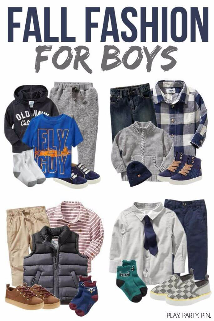 Great fall outfit ideas for boys and toddlers, perfect for playing and moving around!