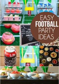 Tons of easy football party ideas that are perfect for this year's football season!