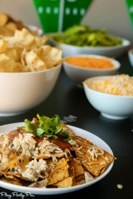 Coke chopped pork nachos sound amazing and perfect or a football party!