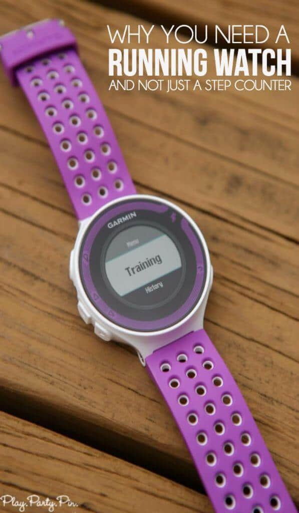 If you want to be a runner, check out these reasons to buy a running watch like a Garmin Forerunner rather than a step counter like a Fit Bit.