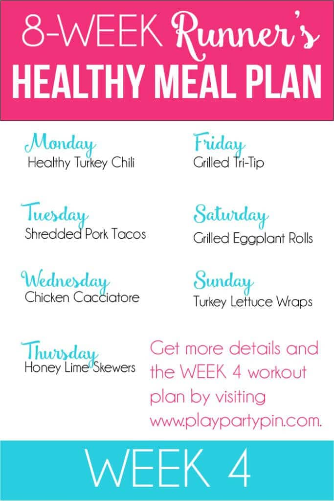 Eight weeks of healthy meal plans