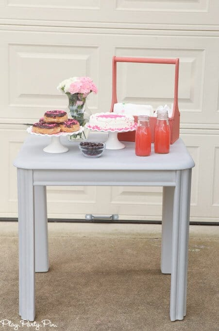 DIY dessert table using Chalk Paint® by Annie Sloan, love the stuff!