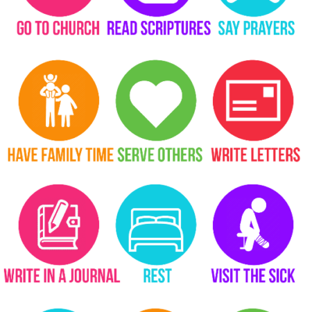 These keeping the sabbath day holy handouts are perfect for teaching young women, teaching kids, or even teaching adults about uplifting things to do on the sabbath!