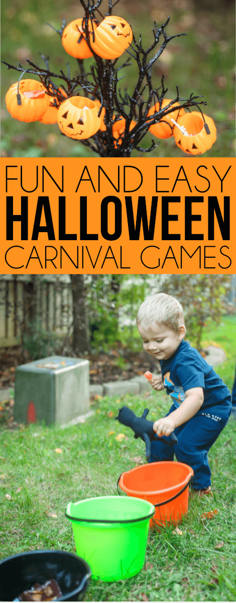 Fun and easy Halloween carnival games for kids! Tons of great ideas for kids, for teens, for toddlers, for adults, and more!