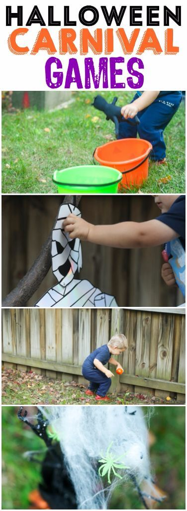 Some of the best Halloween carnival games and fun Halloween party games! I can't wait to try out the last one with my kids!