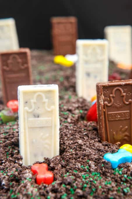 Chocolate graveyard and other Halloween party food ideas