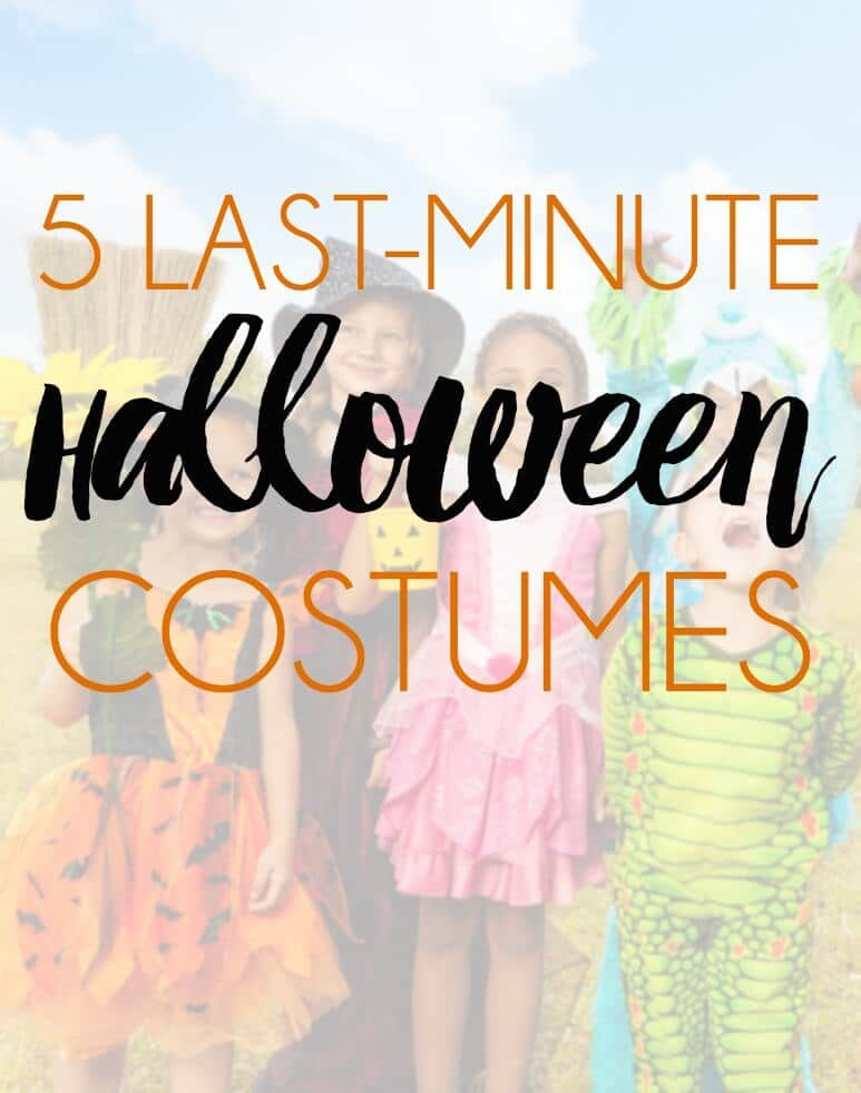 Five easy last-minute Halloween costumes you can put together with items you have around the house. #4 is so fun!