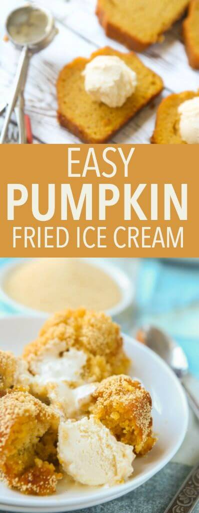 This pumpkin fried ice cream recipe looks amazing! Such a fun fall dessert idea, and I can't wait to try out that honey coating!