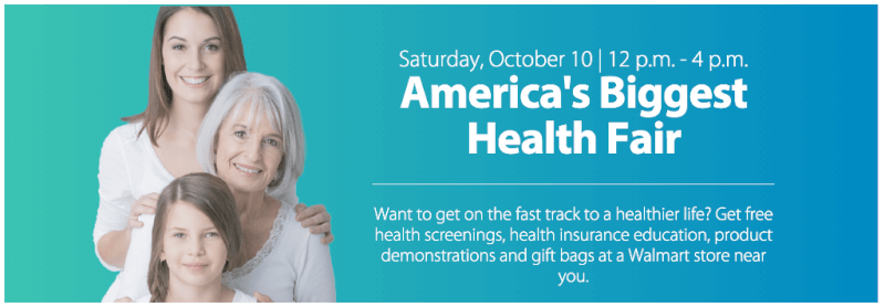 Walmart's Biggest Health Fair Oct 10, 2015