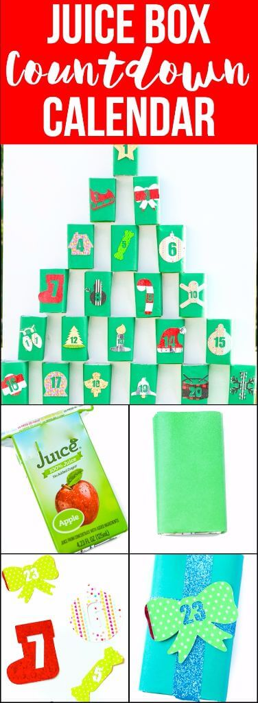 """Love DIY crafts? This Christmas advent calendar made with upcycle juice boxes is one of the cutest Christmas ideas I've seen! So simple to DIY and even better, it can even double as Christmas decorations if you're lazy like me! And seriously how cute is that snowflake!"