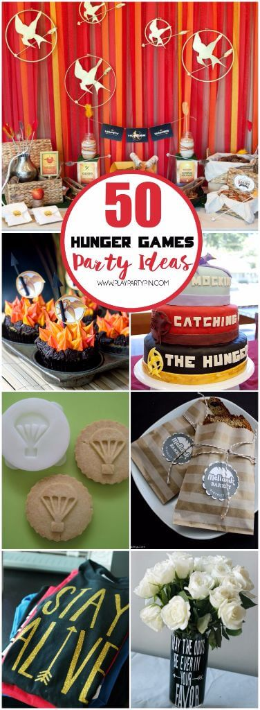 Have a secret crush on Jennifer Lawrence or Hunger Games quotes running through your head? You're gonna love this. This ultimate collection of 50 Hunger Games party ideas is the perfect way to celebrate the Hunger Games Mockingjay Part 2 release! Everything from Hunger Games party decorations to Hunger Games party activities. And tons of amazing Hunger Games party food ideas including some of the most amazing desserts and cake recipes ever. I'm still drooling over the last food idea.