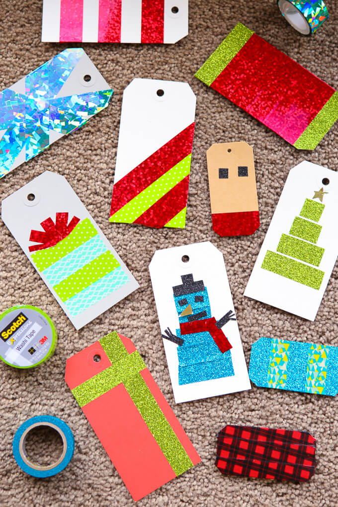 Diy Gift Tags With Washi Tape Play Party Plan