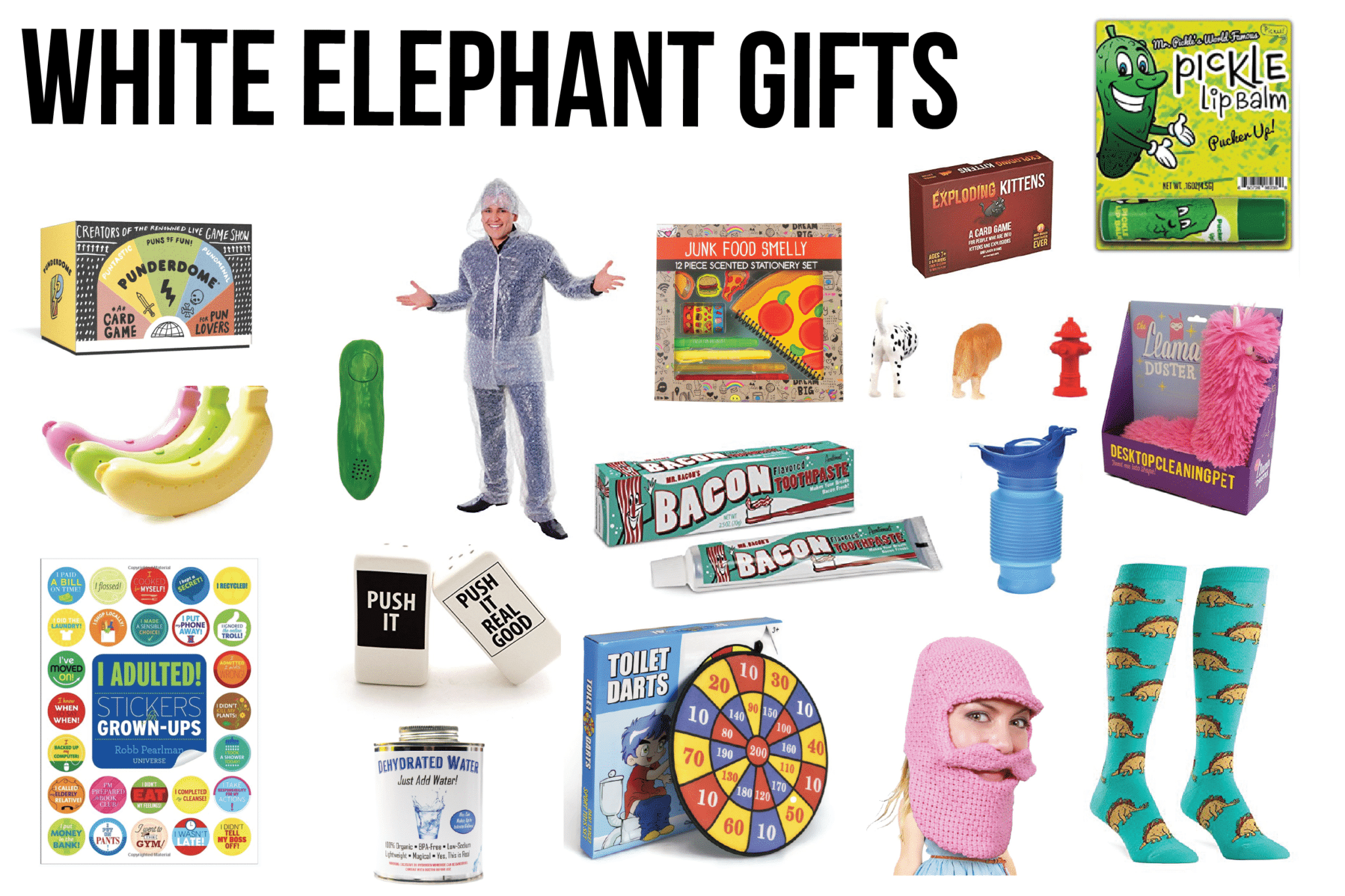 The best white elephant gifts ever along with white elephant rules, the definition of white elephant and more