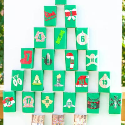 DIY Juice Box Christmas Advent Calendar