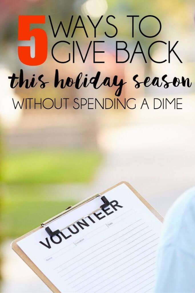 Looking for ways to give back to community this Christmas season? These five give back ideas are the perfect gift ideas if you don't have a lot of money to spend but still want to give gifts to the people you love and admire the most. Ideas that say I love you by watching someone's new baby boy or by donating old shoes instead of breaking the bank. Everyone should for sure at least do #2 this year!