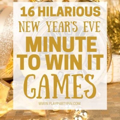 Minute to Win It New Years Eve Games