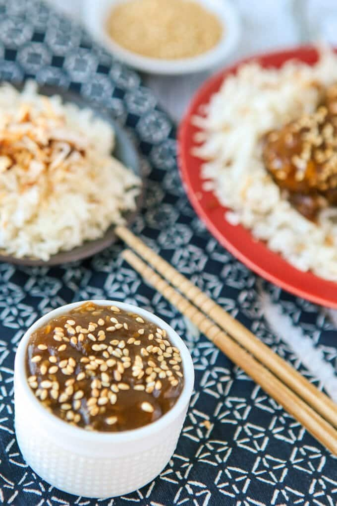 These teriyaki turkey meatballs are one of my favorite ground turkey recipes and the perfect party appetizers! Post includes a recipe for yummy baked turkey meatballs and a homemade teriyaki sauce! And if you omit the bread crumbs, these would be great for anyone on a gluten free or Weight Watchers diet!