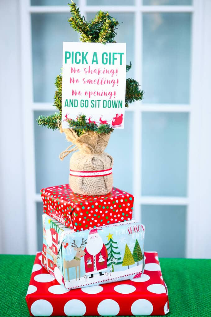 Creative gift exchange game idea free printable exchange Good gifts for gift exchange