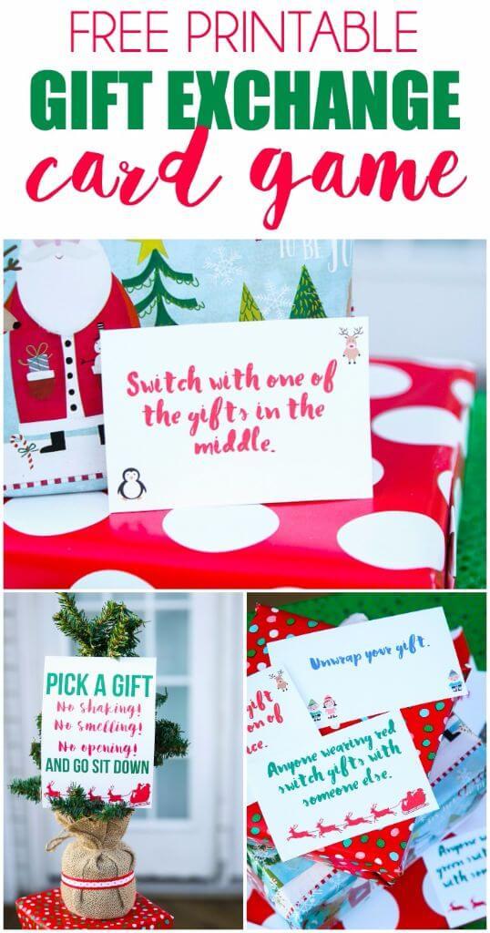 Free Printable Exchange Cards for The Best Holiday Gift Exchange