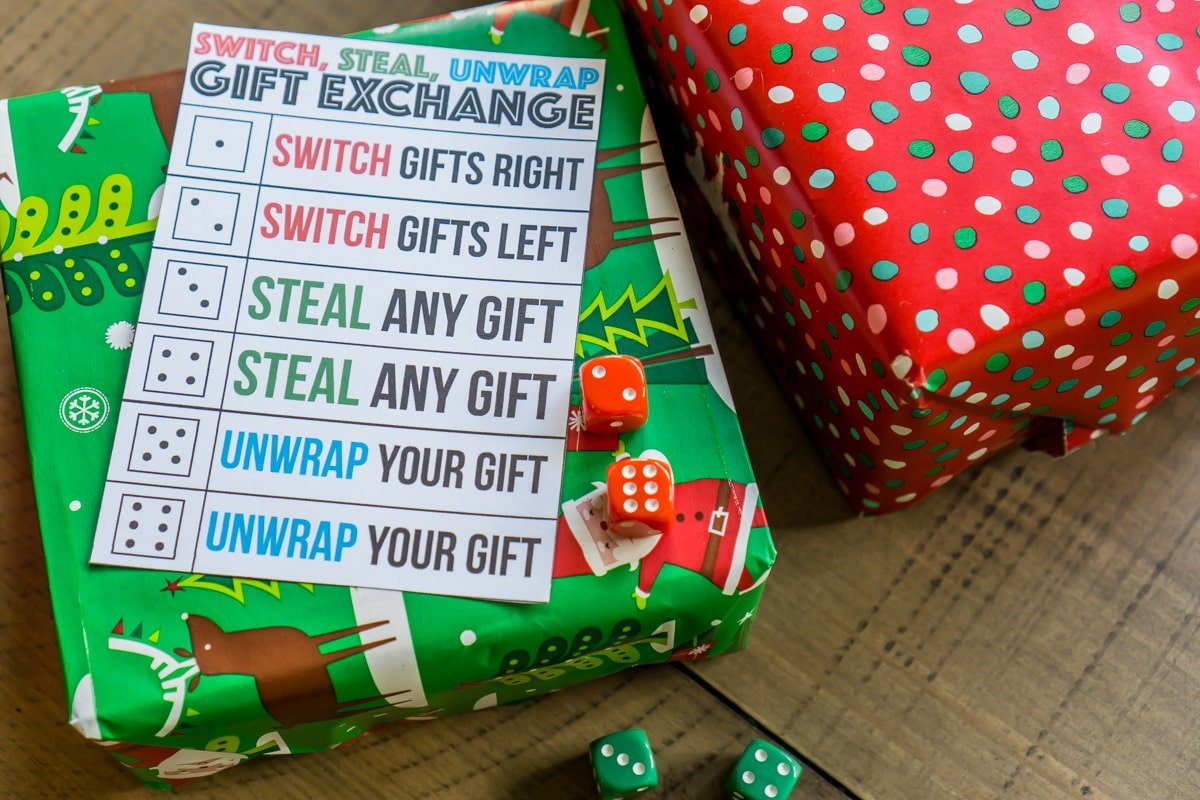 graphic relating to Dice Bag Printable Pattern titled The Easiest Present Swap Video game At any time: Replace, Steal, or Unwrap