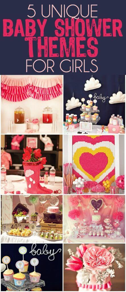 Over 50 creative baby shower themes for a baby girl including the cutest unique themed baby shower ideas! Everything from fashion inspired to Disney inspired to baby shower ideas inspired by funny sayings! And I love that there are also ideas for DIY gifts, party favor gift ideas, cupcakes, and even crafts for the different themes! I'm definitely going to try out one of the animal inspired themes soon.