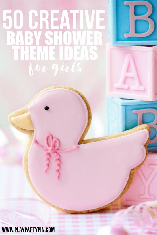 Baby shower girl theme ideas