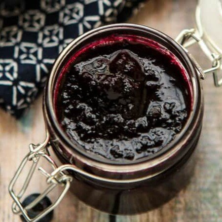This maple blueberry sauce is the perfect topper for all of your breakfast recipes or even great for your favorite chicken recipes!
