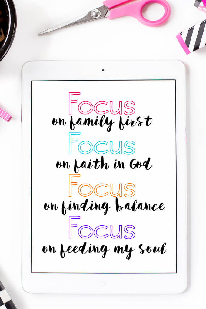 Great quotes about being focused and setting priorities, perfect for the new year or the new school year!
