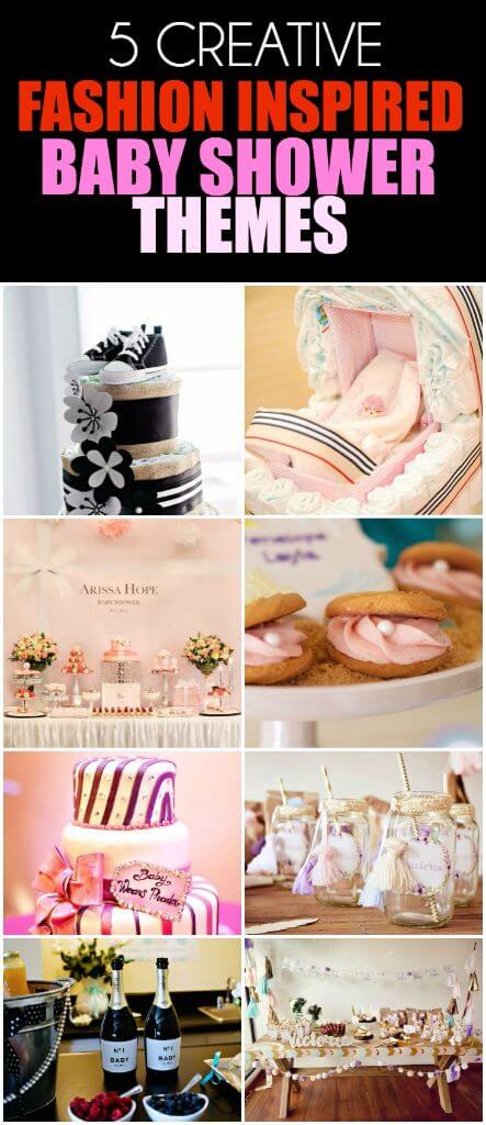 Fashion inspired baby shower themes for girls