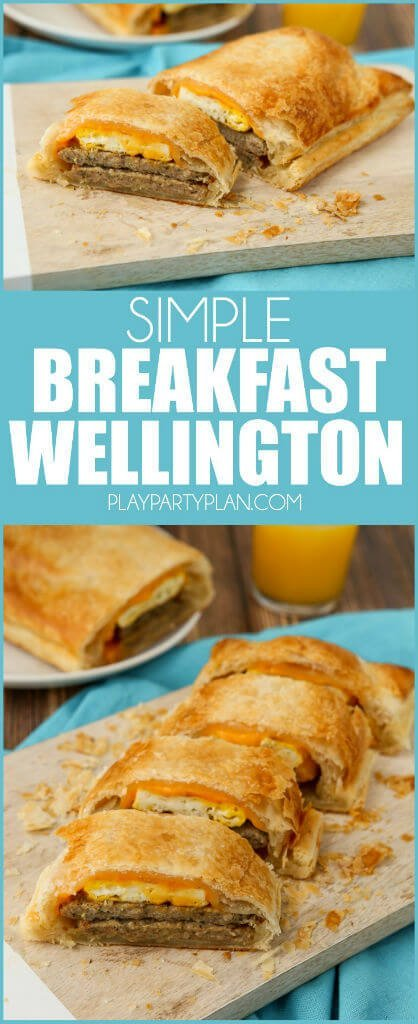 This breakfast wellington recipe looks so yummy, a great combination of a classic dinner recipe and your favorite breakfast flavors! And I love how this recipe combines goes a little untraditional with the meat inside!