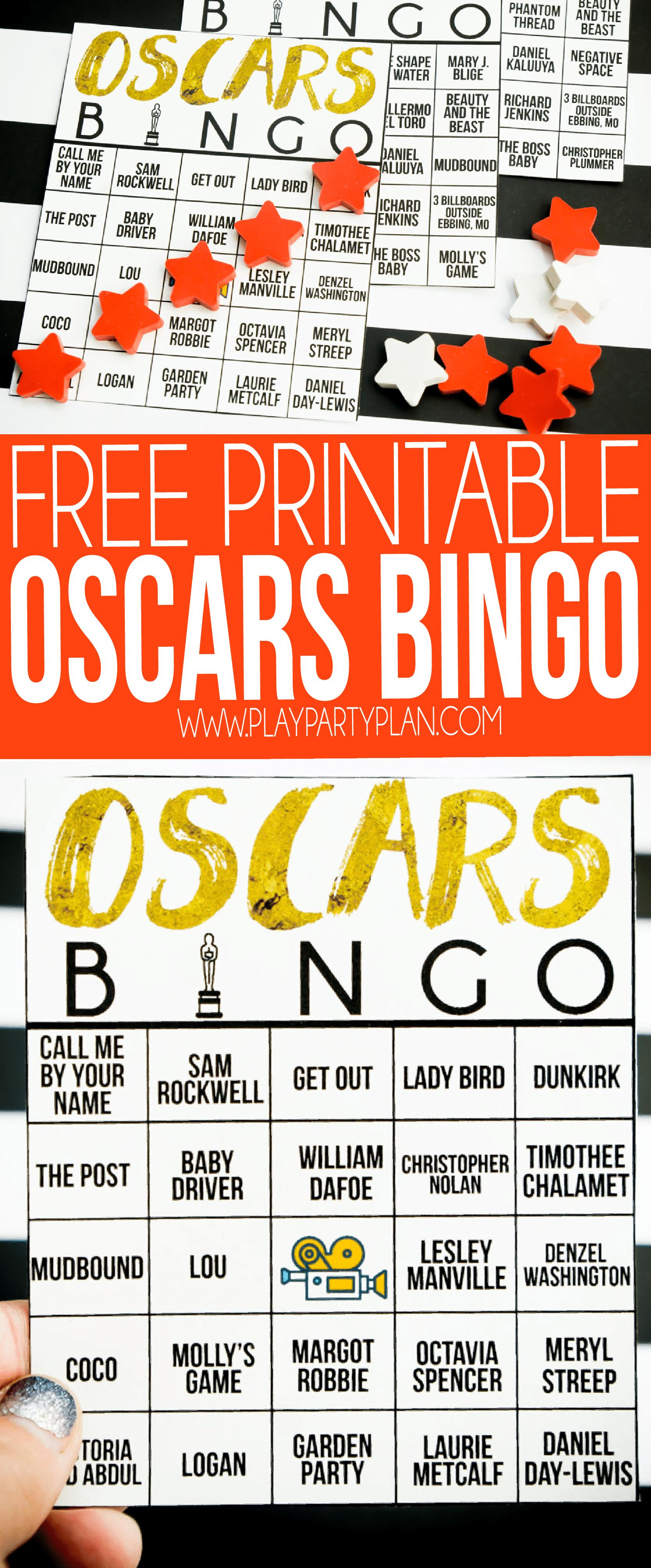 Oscar Bingo 2020