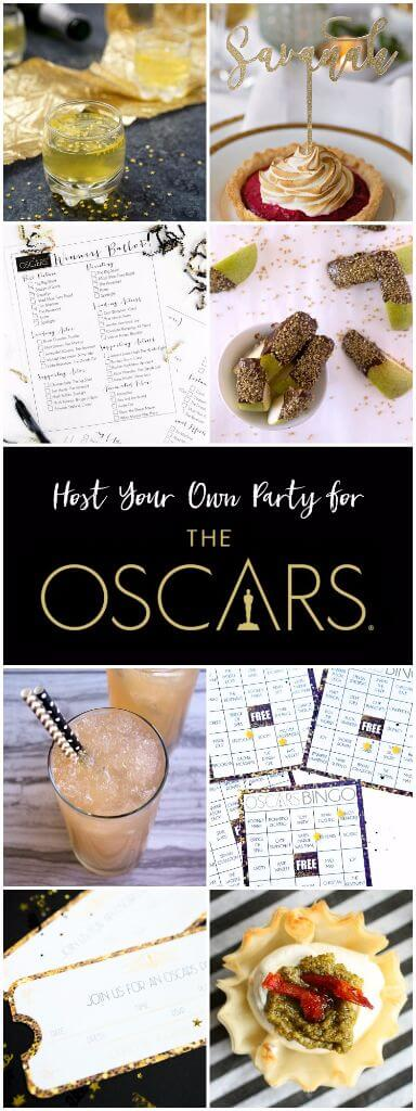 Everything you need to host the best Oscars party, everything from a printable Oscars bingo game to drinks perfect for the Oscars!