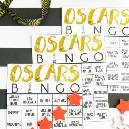 This Oscar bingo game is perfect for an Oscar viewing party