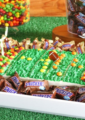 Sweet Football Stadium Cake Idea