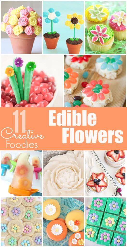 11 awesome ways to make edible flowers from cookies to cupcakes and even chocolate covered pretzels!
