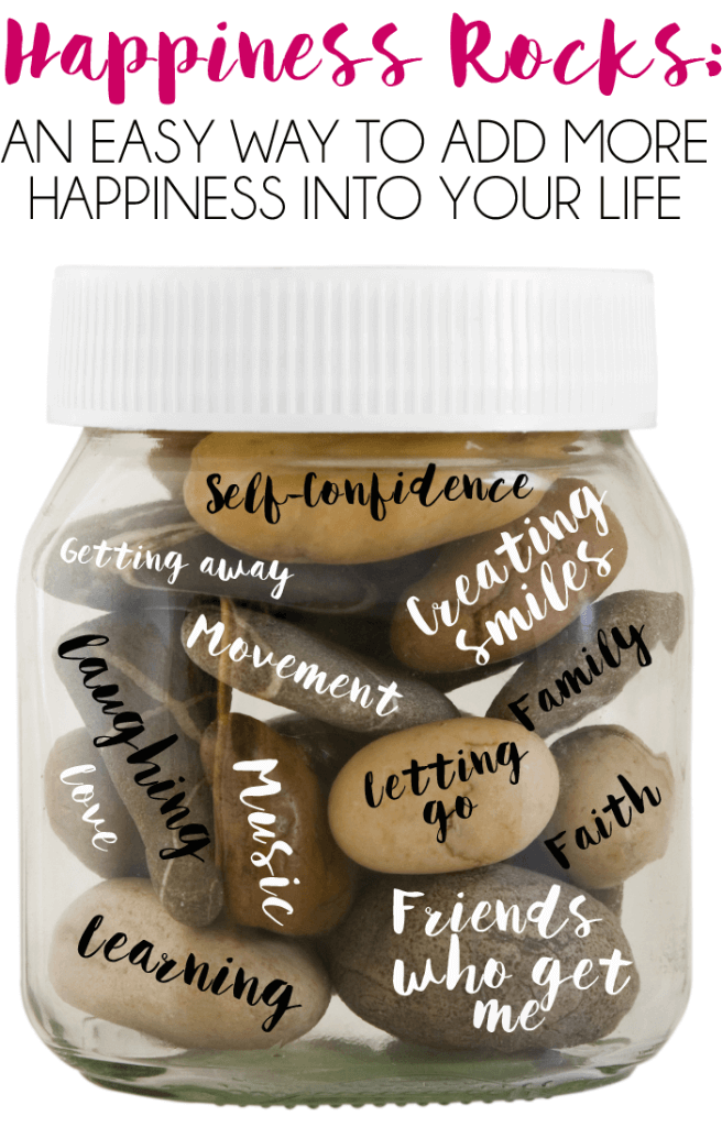 Who wouldn't want to be happier? Happiness rocks are a great way to add a little more happiness into your everyday life by thinking about what makes you happiest and making decisions based on those things!
