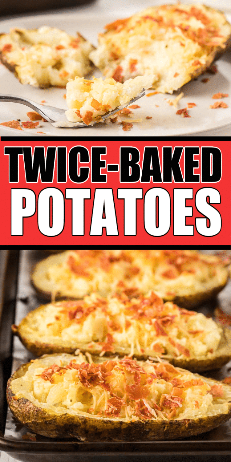 These twice baked potatoes are full of creamy cheese, butter, and more cheese! They're the best boursin cheese potatoes you'll ever try and the perfect side dish!